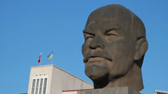 Monument to Ulan-Ude Stock Footage