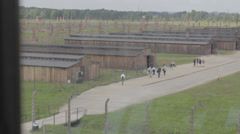 Auschwitz Concentration Camp Barracks Stock Footage