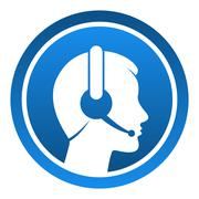 Headset Contact Icon Stock Illustration