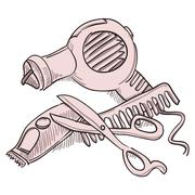 Hairdresser Equipment - stock illustration