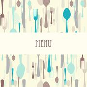 Dining Restaurant Menu Stock Illustration