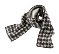 grey houndstooth check scarf - stock photo