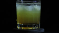 Amaretto Sour rotating Stock Footage