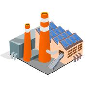Factory Illustration - stock illustration