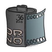 Film Roll Vector Stock Illustration