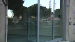 Out of business shop, for rent. Stock Footage