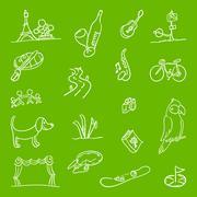 Hobby Symbols Illustration - stock illustration