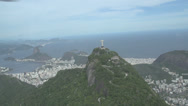 Stock Video Footage of 015 Rio, Helicopter flight, Aerial, Rio City, Christ the Redeemer, Corcovado.