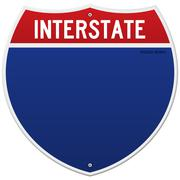 Isolated Interstate Sign - stock illustration