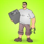 Professional Technology Worker Stock Illustration