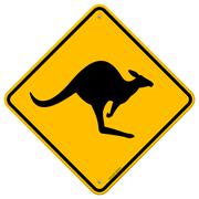 Kangaroo Sign Stock Illustration