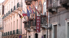 Hotel in Soutern Italy, Catania. Stock Footage