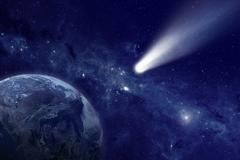 comet in space - stock illustration