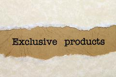 exclusive products - stock photo