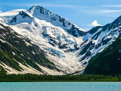 Portage Glacier in Alaska - stock photo
