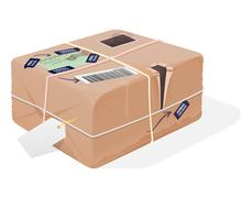 Mail Package Illustration - stock illustration