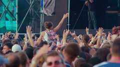 Russian Rock Band Splean performance at the rock festival The Best City.UA Stock Footage