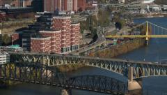 4K Pittsburgh City Pan 3771 Stock Footage