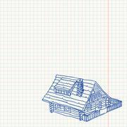 Cottage Handmade Illustration Stock Illustration