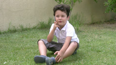 Little boy and mobil phone4 Stock Footage