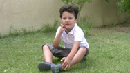 Stock Video Footage of little boy and mobil phone4