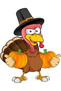 Thanksgiving Turkey Character - stock illustration
