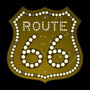 Illuminated Route 66 Sign Piirros