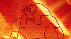 HORUS egyptian god heiroglyphic heiroglyph Stock Footage
