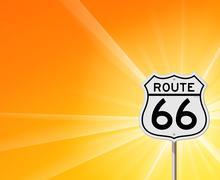 Route 66 merkki ja Sunshine Piirros