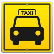Taxi Sign in New York - stock illustration