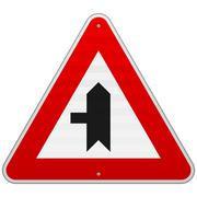 Left Crossroad Sign - stock illustration