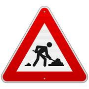 Construction Road Sign - stock illustration
