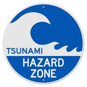 Tsunami vaarallisen alueen Piirros