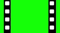 Green Screen Film Strip Intro Stock Footage