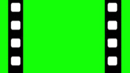 Stock Video Footage of Green Screen Film Strip Intro