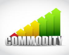 Commodity business successful graph illustration Stock Illustration