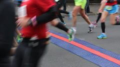 Participants in the 2013 New York City Marathon Stock Footage