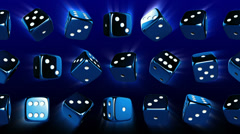 Flowing Casino Dices Stock Footage