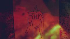 anubis god underworld set - stock footage