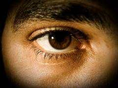 Peephole Eye - stock photo