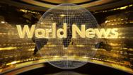Stock Video Footage of intro / wipe World News 2