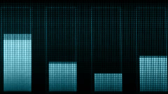 Stock Video Footage of indicators of volume of different frequencies on the screen
