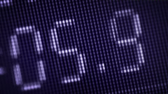 Changing numbers on the lcd monitor Stock Footage