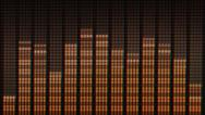 Stock Video Footage of music volume indicator on the frequency division - equalizer