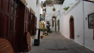 Stock Video Footage of Streets of Lindos, Rhodes - Greece