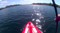 SUP STAND UP PADDLE BOARD SUP POV TIME LAPSE Stock Footage