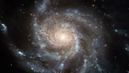 Into the Spiral Galaxy Vortex Stock Footage