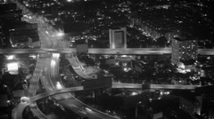 Intersection is a road junction in big city Stock Footage