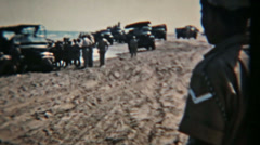 British Army Vintage 8mm film Aden Protectorate beach Circa 1960 HD 0127 Stock Footage