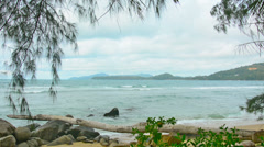 Wild beach without people. thailand, phuket Stock Footage